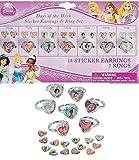 Disney Metal Princess Days Of The Week Earrings & Ring Set