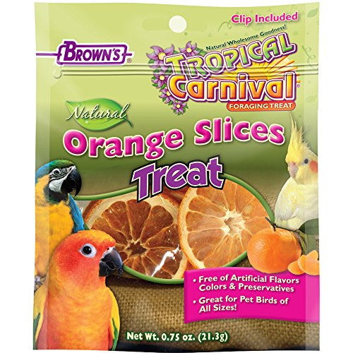 F.M. Brown's Tropical Carnival Natural Orange Slices, 0.75 oz by F.M. Brown's (Food Bird F M Brown)