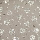 0,5m Sommer-Sweat Pusteblume & Schmetterling grau 5%