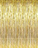 #3: AMFIN (Pack of 2) Party Golden Metallic Fringe Foil Curtain 2.5Ft By 5Ft Birthday Decoration, Decoration for Weddings, Engagement, Baby Shower, 1st Birthday, Anniversary Party, Bachelors Party, Office Party, Diwali - 2.5Ft By 5Ft Curtains