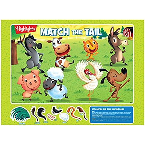 Summer Puzzle Party Supplies - Farm Animal Pin the Tail Game by BirthdayExpress