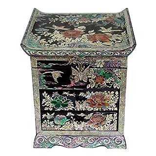 Mutter der Perle Pfingstrose Blume Vogel Lack Holz Schublade Schmuck Schmuckkästchen Andenken Schatztruhe Box Organizer