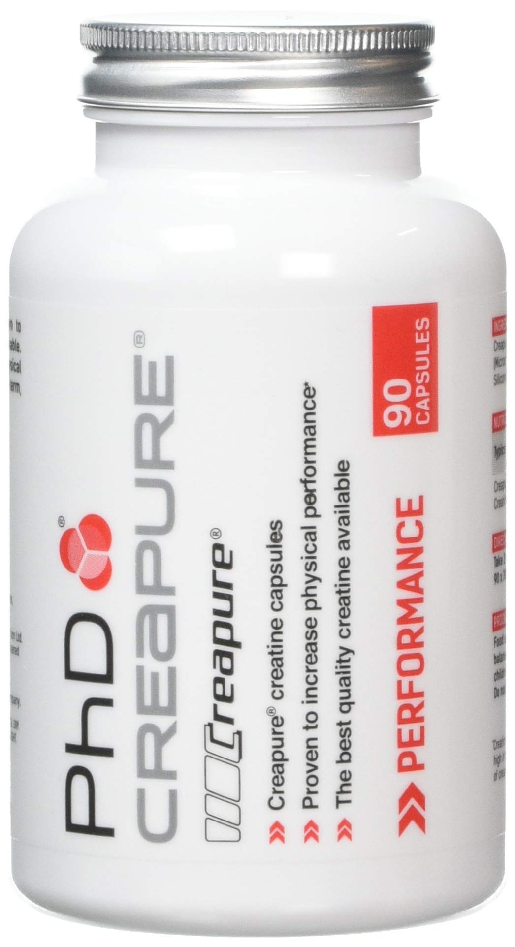 61hA57tdGeL - PhD Nutrition Creapure Creatine, 90 Capsules