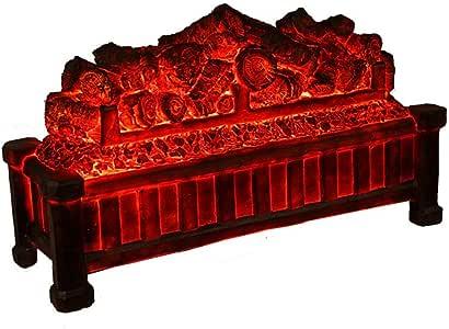 MICEROSHE Freistehender Elektroherd Bare Carbon-Kamin Core-Embedded-Zier Elektro-Kamin Kern Dekorative Simulation Flamme Hearth (Farbe : Picture Color, Größe : 56.5x19x33cm)