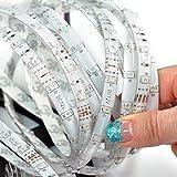 Supmico 12V kühles Weiß 5M wasserdichtes 300 LED 3528 SMD flexibler LED heller Streifen Auto Haus lexible Led Lichtleiste Led Leiste für Küchenschrank Beleuchtung/Innenbeleuchtung