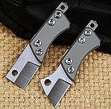 Couteau de poche pliant tactique D2Petite lame couteau Titane Ct-4Poignée Camping couteaux de...