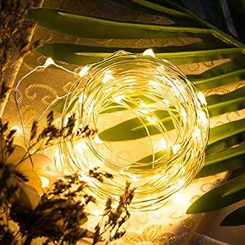 Homesake® 50-LED Fairy Copper String Diwali Lights 5m Waterproof, 3AA Battery, Warm White Pack of 1