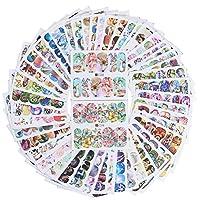 Snaro 50 hojas Nail Sticker Clavar Tip Pegatinas DIY Serie de Patrón de Animales Uñas Pegatinas de Uñas Herramientas Artísticas,49.5*64MM
