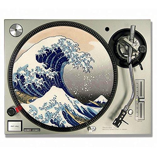 Slipmats für DJs, für Vinyl-Platten, Motiv: Die große Welle vor Kanagawa\n, Drucktechnik von Katsushika Hokusai 12inch
