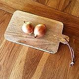 Antikas - Schneidebrett Küchenbrett Frühstücksbrett Wurstbrett Holzbrett Brot - 24,5x13 cm