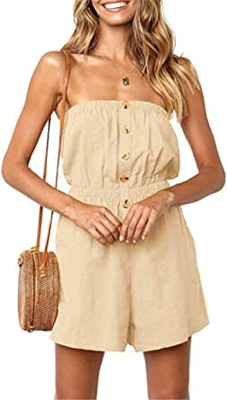 Edjude Women Jumpsuits Playsuits Short//Long Sleeve Casual Elegant Occasion Off Shoulder Going Out Belted Loungewear
