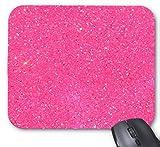 BRIGHT Glitzer Rot und Pink Print Büro Computer Zubehör Gummi Rechteck Maus Pads