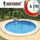 San Marco Piscina interrata rotonda 1000x150 cm con filtro