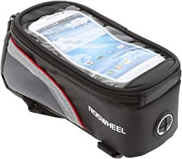 Imported Cycling Bike Bicycle 4.8inch Touch Screen Phone Bag Tube Frame Pouch Red