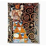 CARMANI - Rechteckige Glasplatte mit Klimt gedruckt: Erwartung