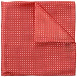 Coral Pink Pin Dot 100% Silk Pocket Square, Wedding Collection, Signature Wrapping 30 x 30 cm