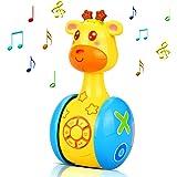 aovowog Giochi Neonato 6 Mesi in più,Giocattoli Musicali Giraffa Tumbler Giochi per Bambini,Giocattoli di attività,Giocattoli