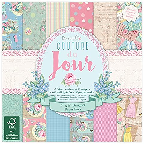 Dovecraft Couture Du Jour Collection - Paper Pack 6