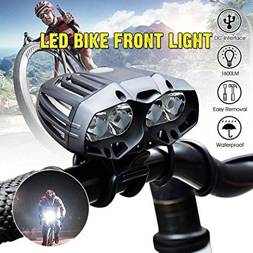 LHWY 4x XML-T6 LED Fahrrad Radfahren Vorderlicht Scheinwerfer Scheinwerfer 4 Modus (Tasche Elektroschocker)
