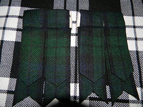 Herren Kilt Schlauch Socke Blitzgeräte mit Strumpfband verschiedenen Tartans Spitz Highland Wear (Herren Socke Strumpfbänder)
