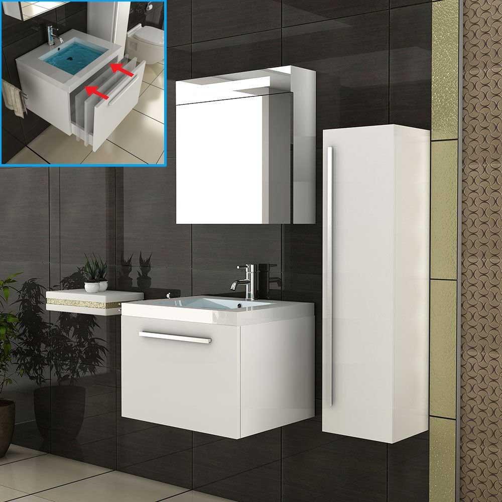 Mobiletto da Bagno con armadietto a specchio/bianco bagno mobili/set da bagno/lavabo/Bagno/lavabo/sp