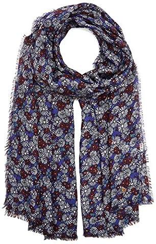 edc by Esprit Accessoires 087ca1q008, Echarpe Femme, Bleu (Navy 400),