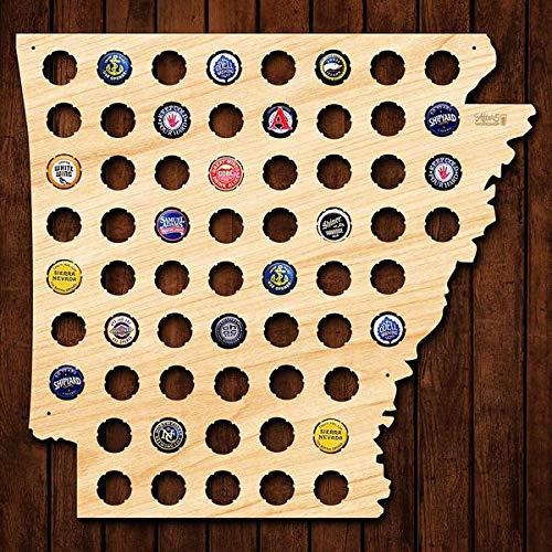 Arkansas Vereinigte Staaten Karte Bierkarte Bier Gap Karte 109 Farben - ein Geschenk für Männer Eine lustige Geschenkidee für Bierfreunde und Geschenke für Bierfreunde & Bier Geschenke - Platz -