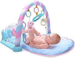 Baby Kick and Play Piano Gym Playmat, tappetino gioco palestrina per neonati da 1 - 36mesi - fitness e body-building per bambini piccoli