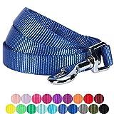 Blueberry Pet 2 cm by 150 cm Klassisch Einfarbige Basic Nylon-Hundeleinen Langlebig - Marina Blau, M, Passender Hundehalsband & Hundegeschirr erhältlich Separate