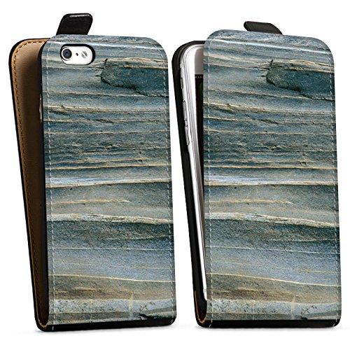 Apple iPhone X Silikon Hülle Case Schutzhülle Grauer Sandstein Fels Stein Downflip Tasche schwarz