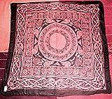 Keltisches Tarot Tuch Baumwolle, Wicca-Design Orange Farbe