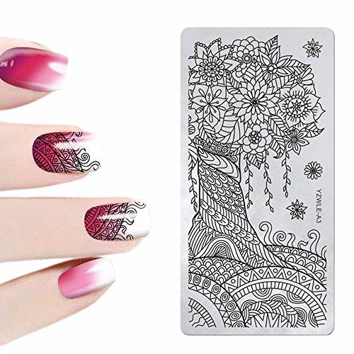 Ca. 12 * 6 cm Nail Art Stamper Gel Tipps DIY Stanzen Zeichnung 3D Bild Vorlage (C)