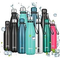UMI. by Amazon - Borraccia Termica, 500 ml Bottiglia Acqua in Acciaio Inox, Senza BPA, 24 Ore Freddo & 12 Caldo…