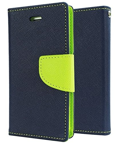 SCHOFIC Premium Fancy Wallet Diary Faux Leather Mobile Flip Case Cover [Pouch] with Card Slots [POCKETS] , Stand View and Magnetic Strap [LOCKING] for Samsung Galaxy S Duos 2 GT -S7562/7582 -Navy Blue  available at amazon for Rs.199