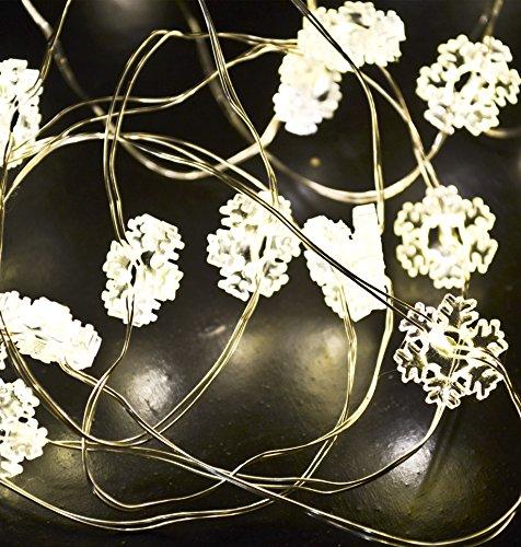 LED-Schneeflocke warm weiß