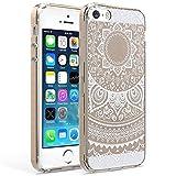 iPhone SE Hülle / iPhone 5S 5 Hülle - XXCASE mint Mandala Totem Serie TPU transparent weiche rückseitige Abdeckung Schutzhülle Taschen Schalen für das iPhone SE 5S 5 (Weiß)