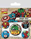 Marvel Comics Spilla Pin Badges 5 Pack Hulk Pyramid International - Pyramid International - amazon.it