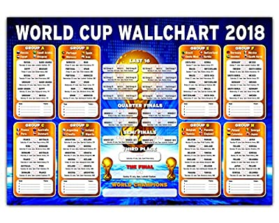 Russia Tournament Wallchart 2018 - High Quality A2/A1 Wall Chart To Track The Results (A2)