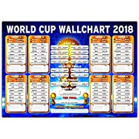 Russia World Cup Wallchart 2018 - High Quality A2/A1 Wall Chart To Track The Results (A2)