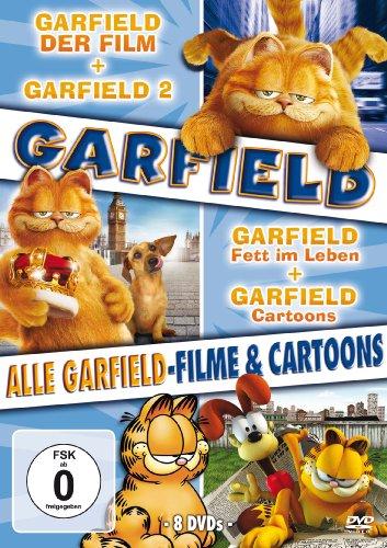 ield-Filme und Cartoons (Garfield-Der Film / Garfield 2 / Garfield-Fett im Leben / Garfield-Fette Ferien / Garfield-Wie er leibt und lebt / Garfield und seine Freunde) [8 DVDs] ()