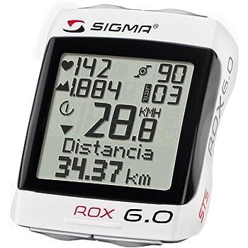 Sigma Sport Ciclocomputer Rox 6.0 Cad, Bianco, Taglia unica