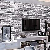 MultiWare Papier Peint ▏Stickers Muraux,Brique de Papier Peint ▏3D Wall Paper Brique Pierre ▏Décoration Murale pour Chambre Salon TV