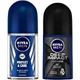 Nivea Deep Impact Freshness, Protect & Care Deodorant Roll On for Men, 50 milliliters