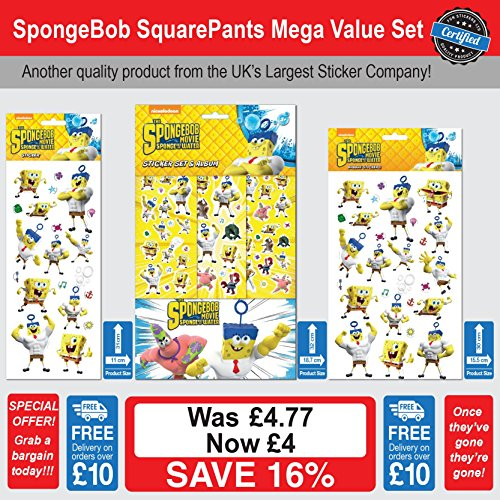 b Squarepants Stickers Mega Value Set ()