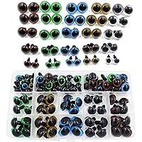100 piezas 10/12/14/16/18 mm 5 tamaños en una caja de colores surtidos ojos de seguridad de plástico para peluche oso muñeca animal cachorro manualidades