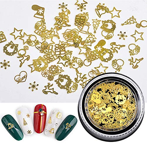 Allbesta 1 Box Alloy Thin Sheet Gears Design Nail Art Decorations Halloween Nails Nageldesign Rhinestones Manicure Nagelkunst Zubehör Dekorationssets