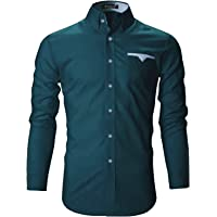 FINIVO Men's Tailored Fit Casual Shirt