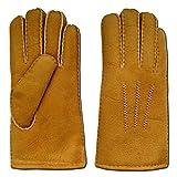 Engel Naturfelle Fingerhandschuhe Lammfell beige hellbraun M (Handumfang 19cm)