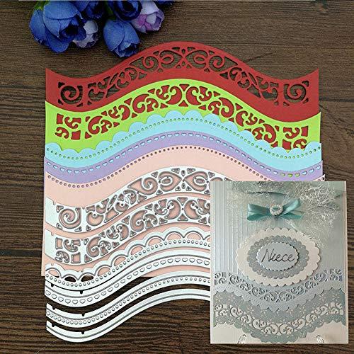 Hausgemachte Halloween Geburtstag Karten - Stanzschablone für Bastelarbeiten, gewellter Rand, Metall,