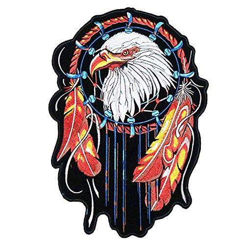 31x 21cm/30,5x 22,9cm Patches Pack Hand Eisen auf nähen auf bestickt Patch Kleidung Aufkleber Garment DIY Apparel Applikationen Aufkleber Aufkleber (Indian Eagle) -